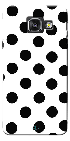 Digiprints Black Polka Dots Printed Back Case Cover For Samsung Galaxy A7_2016