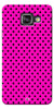 Digiprints Black Dotted Design Pink Printed Back Case Cover For Samsung Galaxy A7_2016