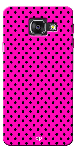 Digiprints Black Dotted Design Pink Printed Back Case Cover For Samsung Galaxy A5_2017