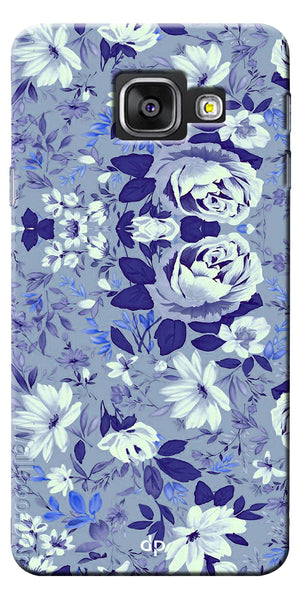 Digiprints Beautiful Blue Flowers Vector Design Back Case Cover For Samsung Galaxy A7_2016