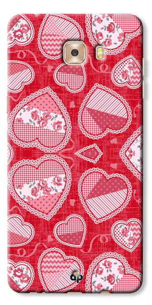 Digiprints Beautiful Pink Heart Design Printed Back Case Cover For Samsung Galaxy C9 Pro