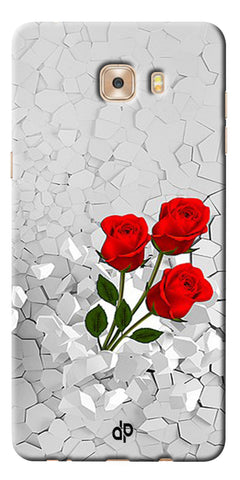 Digiprints Love rose background Printed Designer Back Case Cover For Samsung Galaxy C9 Pro