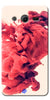 Digiprints Abstract Red Smoke Cloud Printed Designer Back Case Cover For Samsung Galaxy Core 2