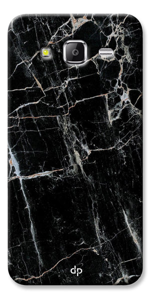 Digiprints Black Marble Design 2 Printed Designer Back Case Cover For Samsung Galaxy Grand Prime