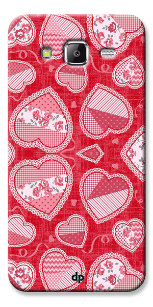 Digiprints Beautiful Pink Heart Design Printed Back Case Cover For Samsung Galaxy Grand Prime