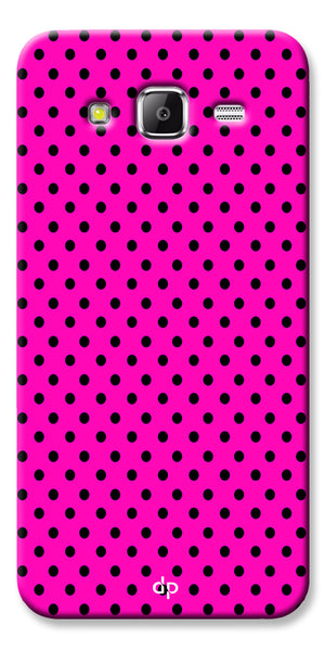 Digiprints Black Dotted Design Pink Printed Back Case Cover For Samsung Galaxy Grand Prime