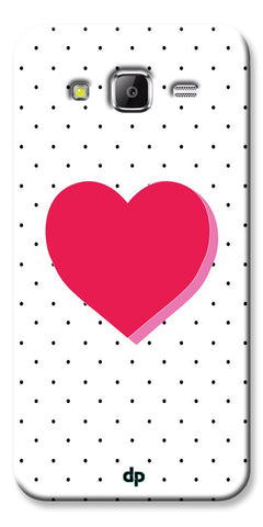 Digiprints Pink Heart Printed Back Case Cover For Samsung Galaxy Grand Prime