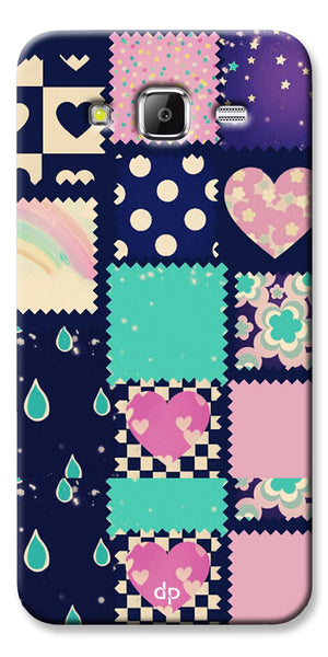 Digiprints Love Mix Pattern Printed Back Cover For Samsung Galaxy Grand Prime