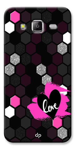 Digiprints Pretty Love Back Case Cover For Samsung Galaxy Grand Prime