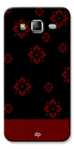 Digiprints Red Flower Pattern Back Case Cover For Samsung Galaxy Grand Prime