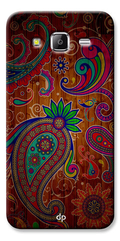 Digiprints Ethnic Wooden Art Back Case For Samsung Galaxy Grand Prime