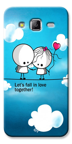 Digiprints Let'S Fall In Love Together Back Case Cover For Samsung Galaxy Grand Prime