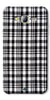 Digiprints Black Checks Printed Designer Back Case Cover For Samsung Galaxy J2