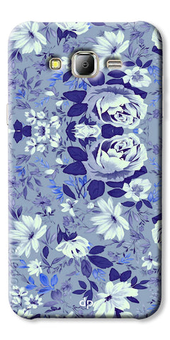 Digiprints Beautiful Blue Flowers Vector Design Back Case Cover For Samsung Galaxy J2