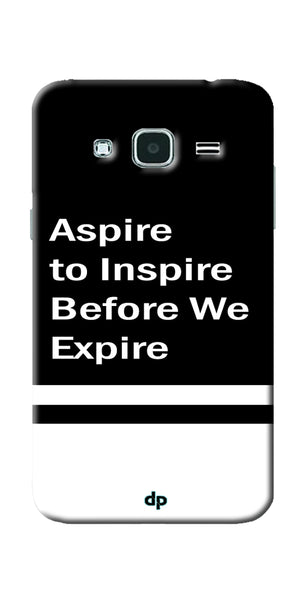 Digiprints Aspire To Inspire Printed Back Case Cover For Samsung Galaxy J3