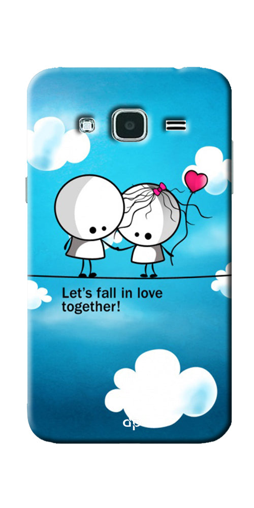 Digiprints Let S Fall In Love Together Back Case Cover For Samsung Galaxy J3
