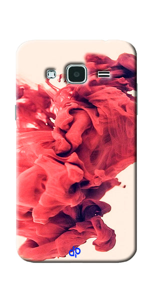 Digiprints Abstract Red Smoke Cloud Printed Designer Back Case Cover For Samsung Galaxy J3