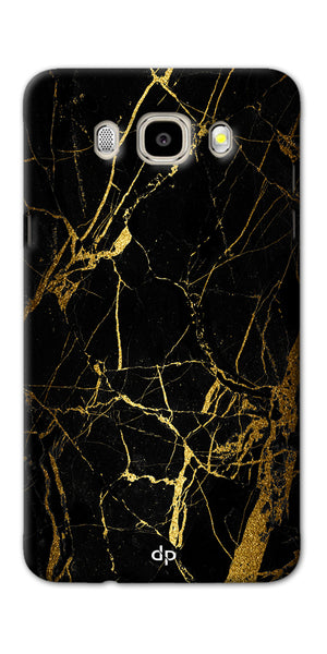 Digiprints Black Marble Design 1 Printed Designer Back Case Cover For Samsung Galaxy J5_2016