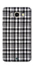 Digiprints Black Checks Printed Designer Back Case Cover For Samsung Galaxy J5_2016