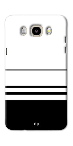 Digiprints Black White Beautiful Pattern Printed Back Case Cover For Samsung Galaxy J7_2016