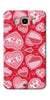 Digiprints Beautiful Pink Heart Design Printed Back Case Cover For Samsung Galaxy J5_2016