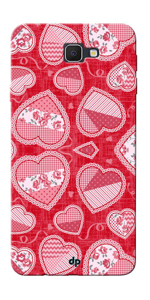 Digiprints Beautiful Pink Heart Design Printed Back Case Cover For Samsung Galaxy J5 Prime