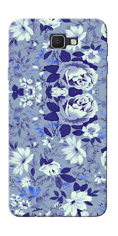 Digiprints Beautiful Blue Flowers Vector Design Back Case Cover For Samsung Galaxy J5 Prime