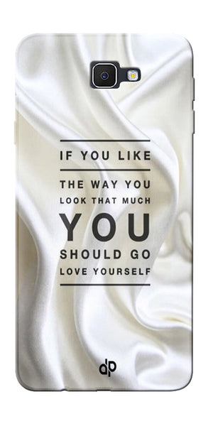 Digiprints Love Yourself Quotes Printed Designer Back Case Cover For Samsung Galaxy J5 Prime