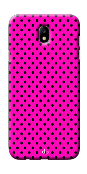 Digiprints Beautiful Pink Heart Design Printed Back Case Cover For Samsung Galaxy J7 Pro