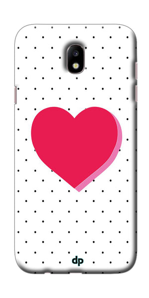 Digiprints Small Hearts On Black Design Printed Back Case Cover For Samsung Galaxy J7 Pro