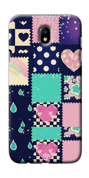 Digiprints Pink Pattern Printed Back Case Cover For Samsung Galaxy J7 Pro