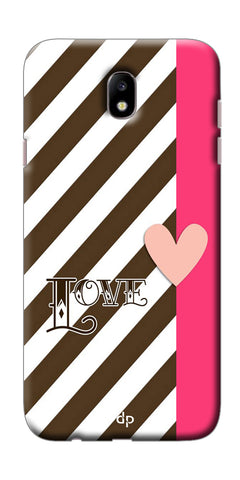 Digiprints Pink And White Strips Printed Back Case Cover For Samsung Galaxy J7 Pro