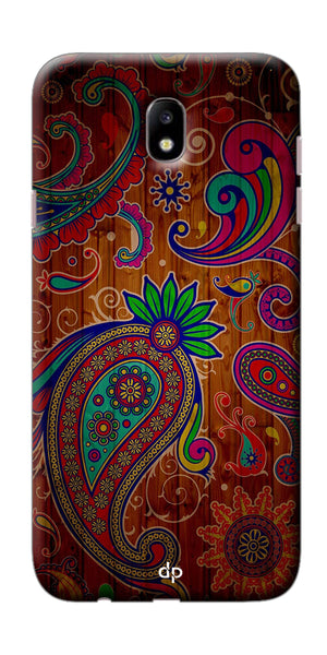 Digiprints Khaki Pattern Back Case For Samsung Galaxy J7 Pro