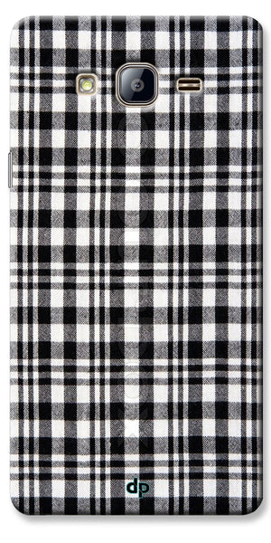 Digiprints Black Checks Printed Designer Back Case Cover For Samsung Galaxy On7