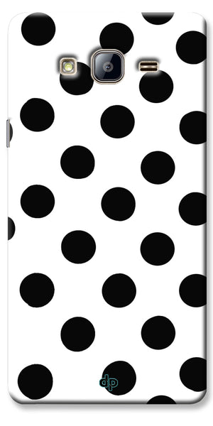 Digiprints Black Polka Dots Printed Back Case Cover For Samsung Galaxy On5