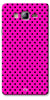 Digiprints Black Dotted Design Pink Printed Back Case Cover For Samsung Galaxy On5