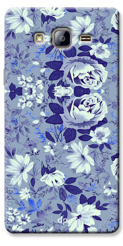 Digiprints Beautiful Blue Flowers Vector Design Back Case Cover For Samsung Galaxy On7