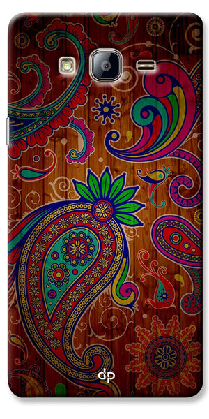 Digiprints Ethnic Wooden Art Back Case For Samsung Galaxy On5