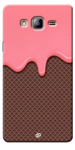 Digiprints Pink Melting Ice Cream Printed Designer Back Case Cover For Samsung Galaxy On5
