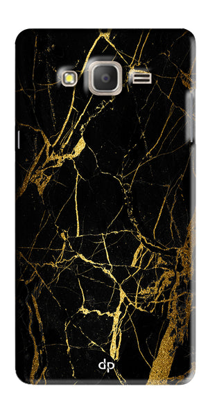 Digiprints Black Marble Design 1 Printed Designer Back Case Cover For Samsung Galaxy On7  Pro