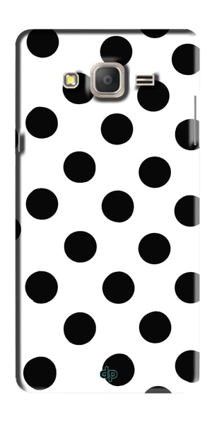 Digiprints Black Polka Dots Printed Back Case Cover For Samsung Galaxy On5 Pro