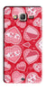 Digiprints Beautiful Pink Heart Design Printed Back Case Cover For Samsung Galaxy On7  Pro