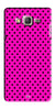 Digiprints Black Dotted Design Pink Printed Back Case Cover For Samsung Galaxy On7  Pro