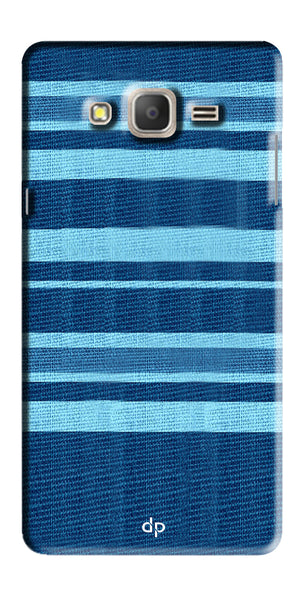 Digiprints Blue Denim Pattern Back Case Cover For Samsung Galaxy On7  Pro
