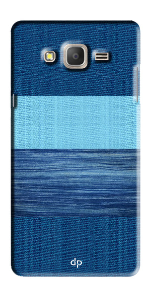 Digiprints Big Blue Denim Pattern Back Case Cover For Samsung Galaxy On7  Pro