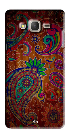 Digiprints Ethnic Wooden Art Back Case For Samsung Galaxy On7  Pro