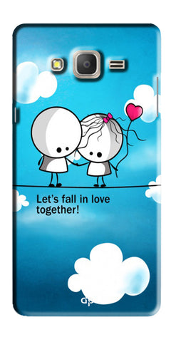 Digiprints Let'S Fall In Love Together Back Case Cover For Samsung Galaxy On7  Pro