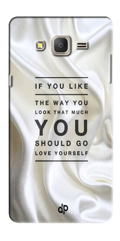 Digiprints Love Yourself Quotes Printed Designer Back Case Cover For Samsung Galaxy On5 Pro