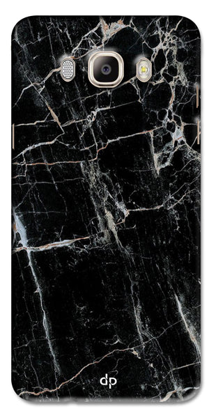 Digiprints Black Marble Design 2 Printed Designer Back Case Cover For Samsung Galaxy On8