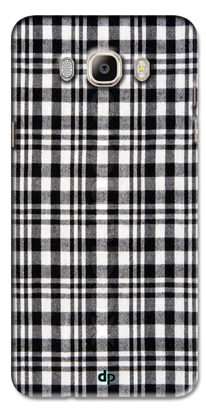 Digiprints Black Checks Printed Designer Back Case Cover For Samsung Galaxy On8